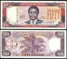 LIBERIA 50 Dollars 2011 UNC P 29 e