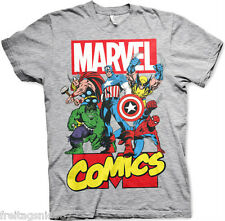 MARVEL HEROES HULK CAPTAIN AMERICA  T-Shirt  camiseta cotton officially licensed