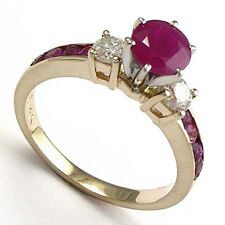 14k Gold Ruby and Diamond Engagement Ring 1.04cwt. Ring Sizes 4 to 9.5 #R663