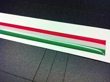 Adesivo Fascia tricolore Italia resinata 3D 15 x 0,5 cm