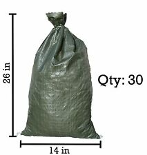 Sandbaggy 30 Green Sandbags --14x26 Sandbags For Sale Sandbag Bags Sand Bags