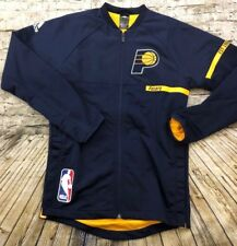 c00399509 Men s Adidas Indiana Pacers NBA Full Zip Warm Up Jacket SMALL Pro Cut  2016-17
