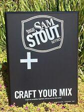 "Samuel Adams Stout Nitro Beer Bar Pub Man Cave Chalkboard ""New"" Beer Stuff"