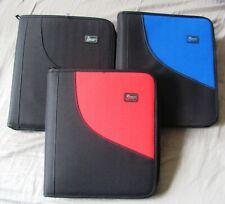 "Zipper Binder Tech Gear 1.5"" 3 Rings, You Pick the Color Red, Black, Blue School"
