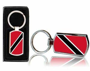 Trinidad And Tobago Flag Printed Chrome Metal Keyring with FREE Gift Box 0235