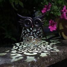 Smart Garden Metal Scroll Owl Solar Light