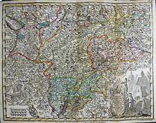 SEUTTER Österreich Landkarte Map Principali Dignitate Gaudens Comit TIROLIS