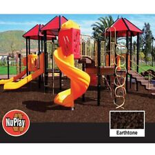 NuPlay Playground Mulch, Recycled Rubber, 1,000lbs, 37.5 cu ft Earthtone