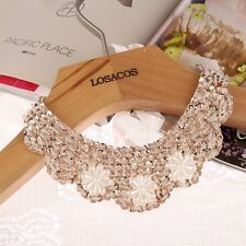 Women Imitation Pearl Beads Fake Collar Choker Necklace Sequin Jewelry Accessory