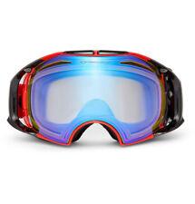$300 Oakley Airbrake Polarized Ski Goggles Red Acetate 0OO7037 007037-07 New
