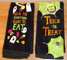 Halloween Glow in the Dark Kitchen Towels Set of 2 w/Tags by The Midnight Market