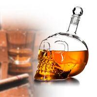 Carafe tête de mort, Crâne en cristal - Carafe à Whisky en verre
