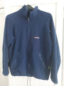 Mens Navy Berghaus Full Zip Fleece Jacket - Size Large (L)