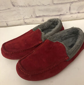 UGG Ascot Red Light Suede Slipper Men's Size 13 Style 1003784
