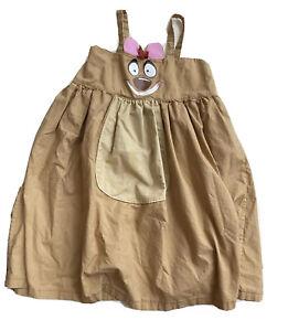 Lion King Handmade Timon apron twirl dress Girls 7 8 tan costume cotton