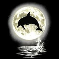 Dolphin Leaping Out Of Water At Night With Moon T-Shirt All Sizes/Colors (3001)
