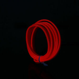 1x 1M-5M Neon LED Light Glow EL Wire String Strip Rope Tube Car Dance Party