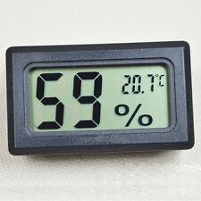 Schwarz Mini Digital LCD Temperature Luftfeuchtigkeit Hygrometer Thermometer Set