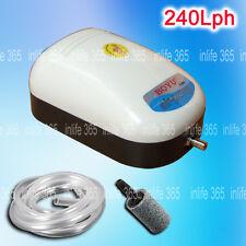 Aquarium Fish Tank Air Pump 180L/H One Outlets Free Air Line/Stone 2.5W
