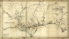 A4 Reprint of American Cities Towns States Map Louisiana