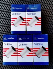 Genuine Hyundai 5 Diesel oil filters for ix35, Tucson, Santa Fe.