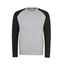 Baseball Contrast Sleeves 2 Colour Unisex Sweater Sweatshirt Jumper NEW S-XXL