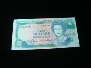 Bermuda 1988 $2.00 Banknote Gem Unc. Pick#34a