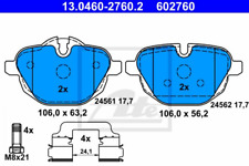 Bremsbelagsatz, Scheibenbremse für Bremsanlage Hinterachse ATE 13.0460-2760.2
