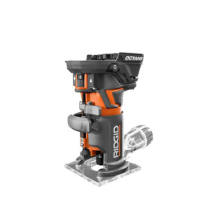RIDGID Cordless Fixed Base Router 18-Volt Lithium-Ion Variable-Speed (Tool Only)