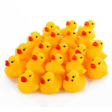10 Small Kids Bath Rubber Ducks Toys Bathtime Fun-Time Floating Water Enjoyments