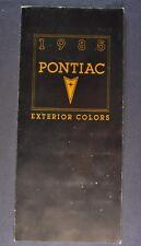 1985 Pontiac Paint Chip Colors Brochure Firebird Trans Am Grand Prix Bonneville