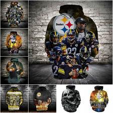 Pittsburgh Steelers Pullover Football Fan Hoodie Hooded Sweatshirt Casual Jacket