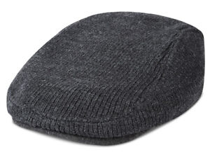 NEW MENS TOMMY HILFIGER CHARCOAL GREY IVY CAP HAT ONE SIZE