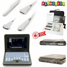 New Portable ultrasound scanner laptop machine 3 Probes Convex/Cardiac/Linear,CE