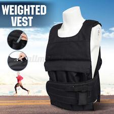 UK Adjustable Weighted Vest Weight Fitness Training Jacket Running Gym Waistcoat