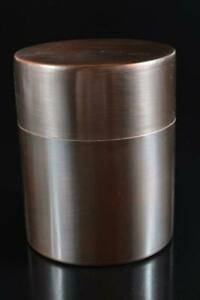 #5332: Japanese Copper Shapely TEA CADDY Chaire Container Tea Ceremony
