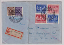 Gemeinsch.Ausg. Mi.VZd1 (970/69), R-Hannover/MesseSST, 4.6.48, Mi 250,00,Faltbug