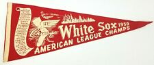 "Vintage 1959 Chicago White Sox American League Champions Pennant 29"" w/ Roster"