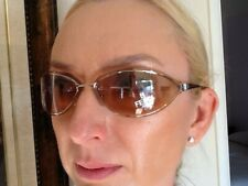 New FENDI Sunglasses Made in Italy,MOD. SL.7469,Gold Metal Frame,Clear Pink Lens