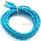 10Ft Braided Micro USB Data Sync Charger Charging Cable Cord For Mobile Phones