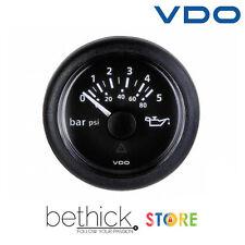 INDICATORE PRESSIONE OLIO MOTORE VDO VIEWLINE 12/24 v 0-5 BAR / 0-80 PSI BARCA