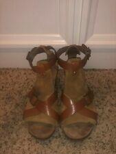 Dansko Dominique Brown Heeled Sandals in Size 40/US 9-9.5 EUC