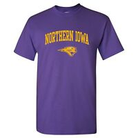Northern Iowa Panthers Arch Logo Licensed Unisex Tee - Purple