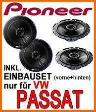 Pioneer Lautsprecher für VW Passat 3B 3BG BOXEN EINBAUSET VORNE+HINTEN KOMPLETT