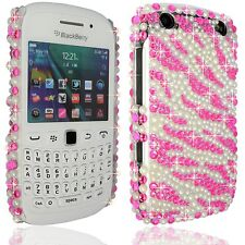 Flower Clear Glitter Diamond Pearl Hard Case cover for Blackberry Curve 9320