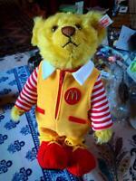 """RARE Limited Mcdonald 2004 Steiff Teddy Bear Official 1438/1500 size 28cm 11"""""""