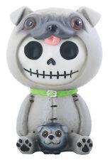 Furry Bones PUGSLY the Pug Figurine, Skeleton in Costume, NIB