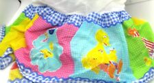 Sesame Street Crib or Toddler Bed Dust Ruffle Unisex Big Bird Cookie Elmo & More
