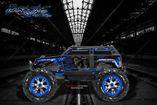 "TRAXXAS SUMMIT GRAPHICS WRAP DECALS ""HELL RIDE"" FOR OEM BODY PARTS BLUE FLAME"