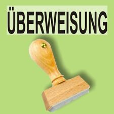 ÜBERWEISUNG - Holzstempel 10 x 35mm Büro Stempel